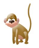 Monkey. Computer generated cute monkey illustration vector illustration