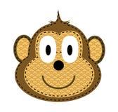 Monkey. Isolated funny baby cartoon monkey Stock Photo