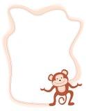 Monkey. Cute little monkey border / frame Stock Photos