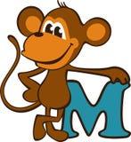 Monkey. Vector illustration depicting nice monkey Stock Images