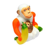 Monkey. Ape or Monkey over white background Stock Photos