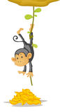 Monkey. An illustration of a traped monkey Stock Image