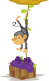 Monkey. An illustration of a monkey caught stealing Royalty Free Stock Photography