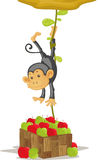 Monkey. An illustration of a monkey caught stealing Royalty Free Stock Images