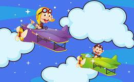 Monkey in aircraft Stock Images