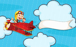 Monkey in airplane Stock Image