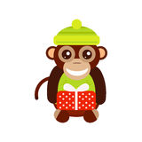 Monkey animal fun character vector illustration. Fun monkey silhouette isolated vector illustration. Traditional horoscope animal design. Zodiac graphic primate Stock Images
