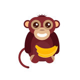 Monkey animal fun character vector illustration. Fun monkey silhouette isolated vector illustration. Traditional horoscope animal design. Zodiac graphic primate Royalty Free Stock Photo