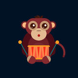 Monkey animal fun character vector illustration. Fun monkey silhouette isolated vector illustration. Traditional horoscope animal design. Zodiac graphic primate Royalty Free Stock Images