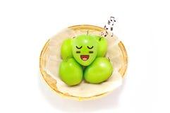 Monkey Apple Green Fruit. On  background Royalty Free Stock Image