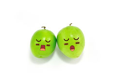 Monkey Apple Green Fruit Stock Images