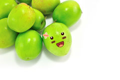 Monkey Apple Green Fruit Royalty Free Stock Photo