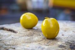 Monkey apple sweet fruit, Jujubes on wood. Stock Images