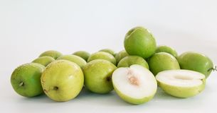 Monkey apple sweet fruit from Thailand sweet like green apple. Fruit jelly, spherical or oval shape Some spherical species like Sapodilla. In Thailand, there are Stock Photos