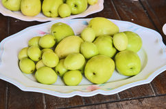 Monkey apples in the plate Royalty Free Stock Photography