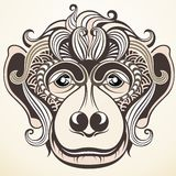 Monkey as a symbol of New Year 2016 Royalty Free Stock Photos