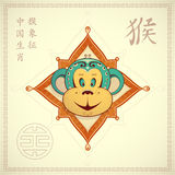 Monkey as symbol for year 2016 Royalty Free Stock Image