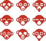Monkey avatar Royalty Free Stock Image