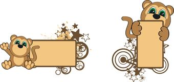 Monkey baby cartoon copyspace. In format very easy to edit vector illustration