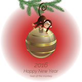 Monkey on the ball Stock Image