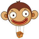 A monkey balloon with an empty basket Stock Images