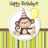 Monkey with balloon Royalty Free Stock Image