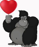 Monkey with balloon Stock Image