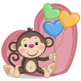 Monkey and balloons Royalty Free Stock Photos
