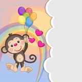 Monkey with balloons Royalty Free Stock Photography