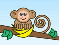 Monkey Bananas Royalty Free Stock Photo