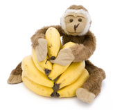 Monkey with bananas Royalty Free Stock Photos