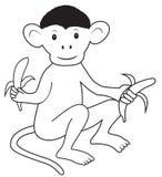 Monkey with bananas Royalty Free Stock Image