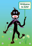 Monkey with banner Stock Photography