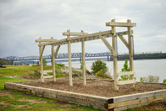 Monkey bar Mississippi river. Monkey bar close to Mississippi river, taken in Memphis Royalty Free Stock Image