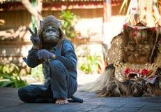 Monkey and Barong royalty free stock image