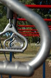 Monkey Bars 1. Close up of monkey bars in kids playground Royalty Free Stock Image