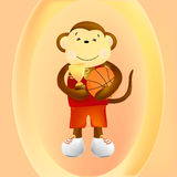 Monkey basketball player Stock Photos