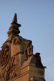 Monkey Behind Monkey Statue Stock Image