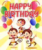 Monkey birthday Royalty Free Stock Images