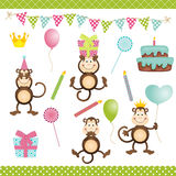 Monkey Birthday Party Stock Image