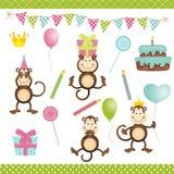 Monkey Birthday Party Stock Image