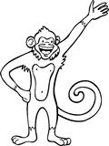 Monkey - black and white Stock Photo