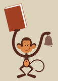 Monkey with book Stock Photo