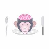 Monkey Brains prohibited dish of Oriental cuisines Chinese, Indo Royalty Free Stock Images