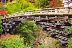 Monkey Bridge of Otsuki, Japan Stock Photo
