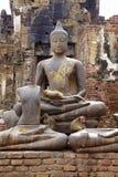 Monkey and buddha Stock Photo