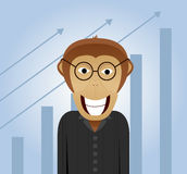 Monkey in business Royalty Free Stock Image