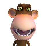 Monkey Business. Render of a funny Toon Monkey with Clipping Path Royalty Free Stock Photos