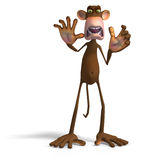 Monkey Business. Render of a funny Toon Monkey with Clipping Path vector illustration