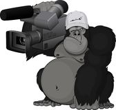 Monkey with camera. This is file of EPS10 format Royalty Free Stock Images